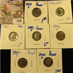 Roosevelt Dimes From Special Mint Sets And Proof Sets
