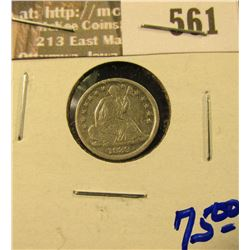 1839-O Seated Half Dime With Full Rims And Liberty Visible