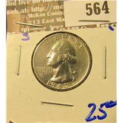 High Grade 1943-S Washington Quarter