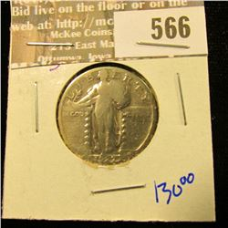 1927-S Key Date Standing Liberty Quarter