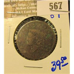 1830 Coronet Head Large Cent