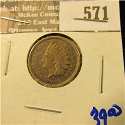1862-Cn Indian Head Cent With Liberty Visible