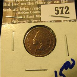 1905 Indian Head Cent With Full Liberty And Diamonds Visible