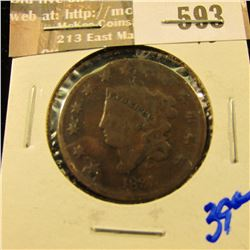 1831 Coronet Head Large Cent