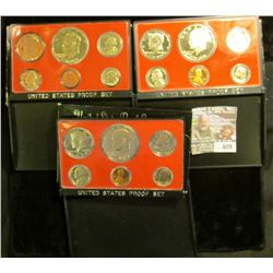 1975, 1976, And 1977 Proof Sets