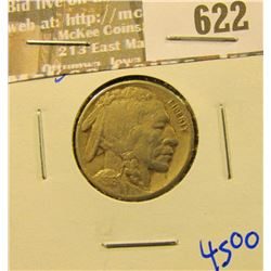 1916-S Better Date Buffalo Nickel With Horn Visible