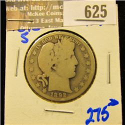 Key Date 1892-S Barber Half Dollar