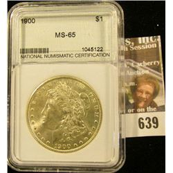 1900 Morgan Silver Dollar Slabbed And Graded Ms-65.  This Books For Around $235