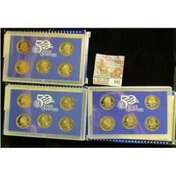 2003, 2004, And 208 Proof State Quarters Sets.  The 2008 Is The Key Set In The Series
