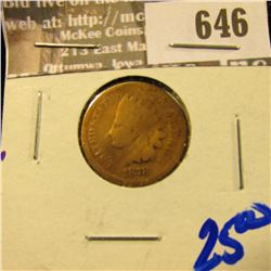 1878 Semi Key Date Wheat Cent