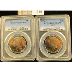 1974-S And 1976-S Proof Kennedy Half Dollars Graded Proof 69 By Pcgs