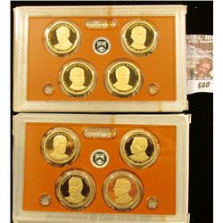 2013 And 2014 Proof Presidential Dollar Sets.  The 2013 Set Starts With William Mckinley.  The 2014