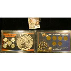 Shell Case Penny Collection And Mercury Dime Collection