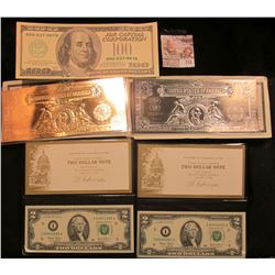 2 CRISP SERIES 2003 TWO DOLLAR BILLS IN CARRYING CASE AND ONE HUNDRED DOLLAR NOVELTY NOTE