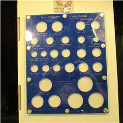 Capital Plastics Type Coin Holder…. This Holder Includes Spaces For All The Us Coins Minted During T