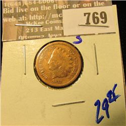 1873 Closed 3 Indian Head Cent