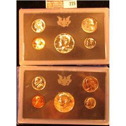 1968 And 1970 Proof Sets.  The Half Dollars In These Sets Are 40 Percent Silver