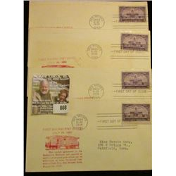 Pack of Four First Railway Post office 1938 complete envelopes.