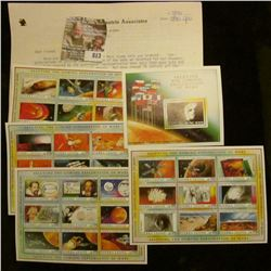 Packet of 37 Mint Sierra Leone Stamps saluting the Exploration of Mars and cooresponding literature.