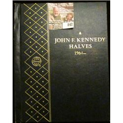 Empty John F. Kennedy Halves 1964- Whitam Deluxe Coin Album. No coins. Retails at about $30