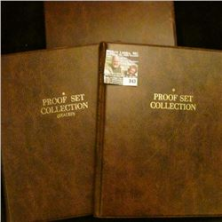 (2) Harco Proof Set Albums and an empty Harco Binder.