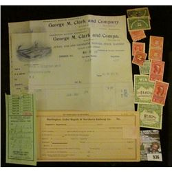 """936 _ Pair of 1905 Invoices """"American Stove Company George M. Clark and Company Division Makers of J"""