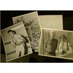"""945 _ Pair of 8"""" x 10"""" Black and white Boxing Photos, one of which is autographed """"To Harry from Fre"""