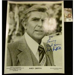 """947 _ 8"""" x 10"""" autographed black and white Studio photo of Andy Griffith."""