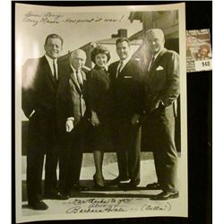 """948 _ 8"""" x 10"""" black and white autographed photo """"Dear Larry Perry Mason-How Sweet it was! ---our th"""