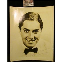 """949 _ 8"""" x 10"""" Black and white autographed photo """"To """"Young America"""" Readers Tyrone Power""""."""