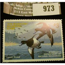 973 _ 1978 Minnesota Migratory Waterfowl Stamp Minnesota Department of Natural Resources depicting W