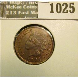 1025 _ 1904 Indian Head Cent, MS 65, Red & Brown.