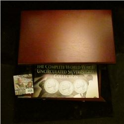 """1131 _ """"The Complete World War II Uncirculated Silver Nickel Collection"""" in a Superb felt-lined Cher"""