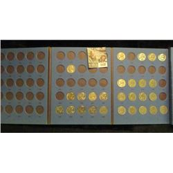 1137 _ Partial Set of Once-a-Year Jefferson Nickels in a Whitman folder.(27 pcs.).