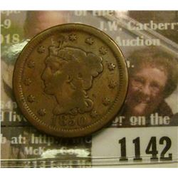 1142 _ 1850 U.S. Large Cent, One year after the great Gold Rush.