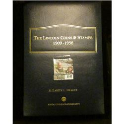 """1147 _ Postal Commemorative Society Album with """"The Lincoln Coins & Stamps 1909-1958"""" With literatur"""