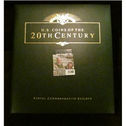 """1148 _ Postal Commemorative Society """"U.S. Coins of the 20th Century"""" Album with Coins including: (7)"""