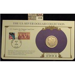1216 _ 1904 Philadelphia Mint Morgan Silver Dollar in a special protected cover with post marked com