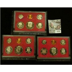 1237 _ 1980 S, 81 S, & 82 S Proof Sets. All original as issued. CDN bid is $11.75..
