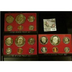 1239 _ 1973 S, 74 S, & 78 S Proof Sets. All original as issued. CDN bid is $19.25..