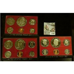 1240 _ 1973 S, 74 S, & 78 S Proof Sets. All original as issued. CDN bid is $19.25..