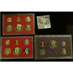 1249 _ 1981 S, 82 S & 86 S U.S. Proof Sets. All original as issued. Coin Dealer Newsletter Bid Price