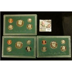 1251 _ 1996 S, 97 S, & 98 S U.S. Proof Sets. All original as issued. Coin Dealer Newsletter Bid Pric