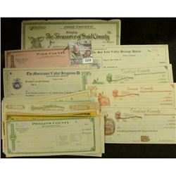 1259 _ (44) Different unissued Colorado 1910 era Bank Checks, very colorful group from a seldom seen