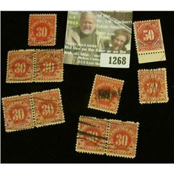 1268 _ Pack of (10) higher value Postage Due Stamps.