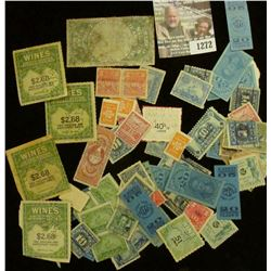 1272 _ Pack of over (70) miscellaneous stamps, tax and etc. Many over 100 years old.