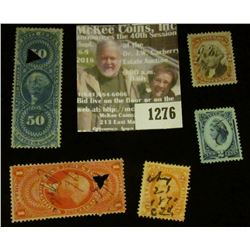 1276 _ Pack of (5) different Internal Revenue Stamps.