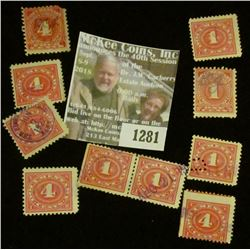 1281 _ Pack of (10) Documentary Stamps (5) Four Cent & Five One Cent.