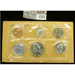 1313 _ 1962 U.S. Proof Set in original flat pack and cellophane as issued. (5 pcs.).