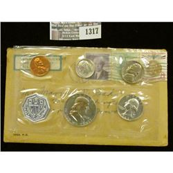 1317 _ 1963 U.S. Proof Set in original addressed flat pack and cellophane with postage stamps. (5 pc